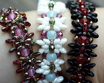 TUTORIAL - Miranda, bead-woven bracelet with Super Duo beads