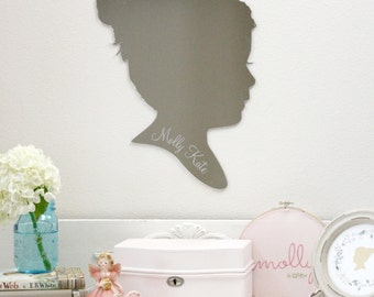 Custom Silhouette Mirror - made from your photo by Simply Silhouettes