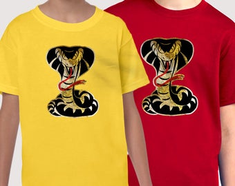Cobra Yellow, Red or Black T-shirt (kids and adult sizes)