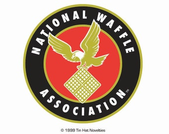 Dazzling, full-color National Waffle Sticker.