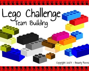 Digital Lego Team Building Game Activity - Great for Back to School, Ice Breaker, Social Event or Just for Fun