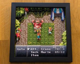 Chrono Trigger (SNES) Shadowbox - Gato Fight