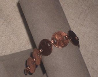 Vintage Copper Penny Bracelet