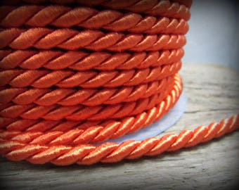 End of stock - cord - orange - colors - 5mm