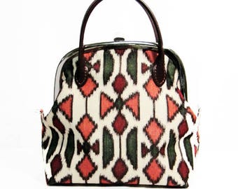made from haori,vintage kimono,2way bag