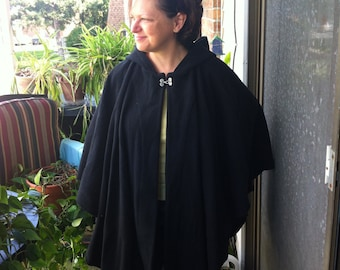 Fleece Cloak with Hood