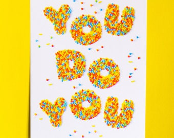 You Do You CMYK Risograph Art Print