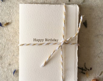 Letterpress Happy Birthday cards pack of 8