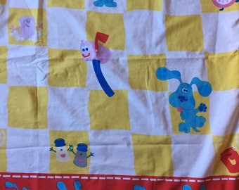 BLUES CLUES Vintage Fabric Flat Sheet 1990s