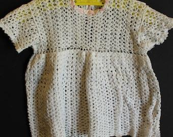 Newborn vintage crochet dress Shabby chic
