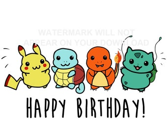 Pikachu birthday card cartoon character pokemon stationery pokemon birthday card bookmarktalkfo Gallery