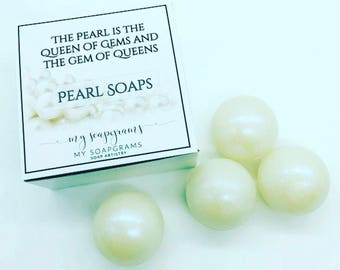 Pearl Soaps / Mother's Day / Bridal Soap Collection / For Her / Soap Pearls