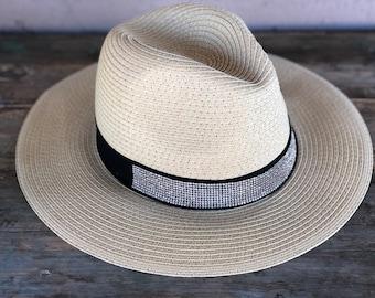 Straw Panama Wide Brim Hat Adult Fedora Straw Hat