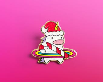 Unicorn Enamel Pin, Cute Enamel Pin, Kawaii Enamel Pin, cute pin, unicorn pin, Christmas Enamel Pin, Holiday, Fashion Accessory