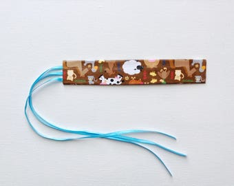 Brown Farm Nature Animals Bible Bookmark w/ Tassels