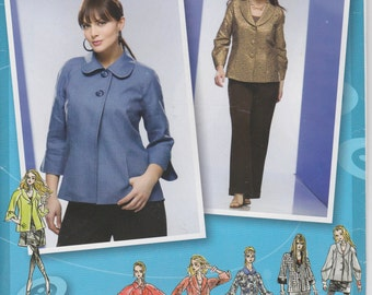 Jacket Pattern Choose Collar and Sleeve Womens Plus Size 18 - 24 Uncut  Simplicity 2899 Project Runway