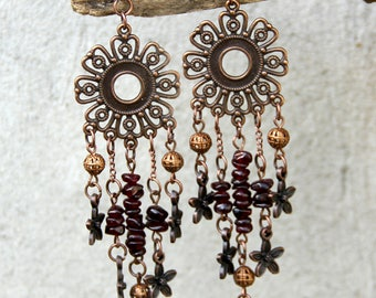 Gift for best friend earring for mom January birthstone Jewelry gemstone Jewelry gemstone earring Garnet Jewelry women earring Garnet earrin