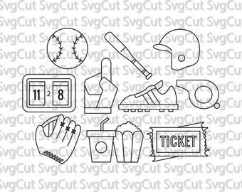 baseball svg, softball svg, baseball monogram, softball monogram, baseball stitches, clipart, vector, silhouette, eps, dxf, png, cut files