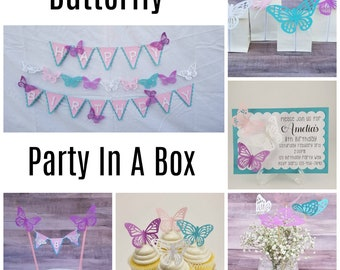 Butterfly Party In A Box/Butterfly Party Pack/Butterfly Birthday Party In A Box/Butterfly Birthday Party Pack/Butterfly Party Bundle