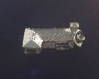 Sterling silver house charm vintage # 176s