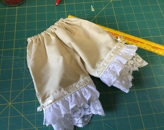 "Bloomers, lacy whites, 18"" doll clothes fit American Girl, Waldorf doll"