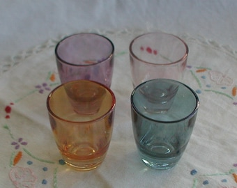 Vintage 1950's Harlequin Shot Glasses