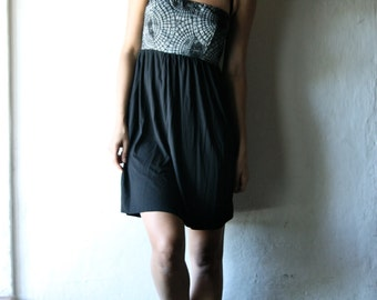 Black dress, Tunic dress, Halter dress, Mini dress, Empire dress, Goth dress, Jersey dress, Womens clothing, Maternity dress, petite dress