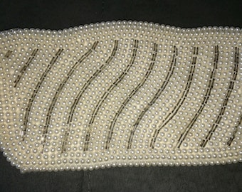 Vtg 50s/60s Faux Pearl & Beaded Clutch Evening Purse
