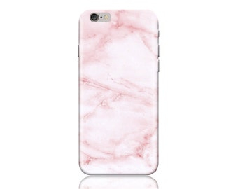 For Samsung Galaxy S7 Case #Pink Marble Design Hard Phone Case