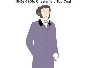 RH937 — Gentleman's Victorian Chesterfield Top Coat