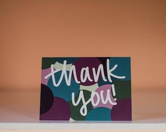 Thank You Circle Card - Thanks Card - Grateful Card - Thank You Greeting Card - Thanks Greeting Card