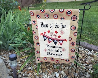 Embroidered Garden Flag- 4th of July