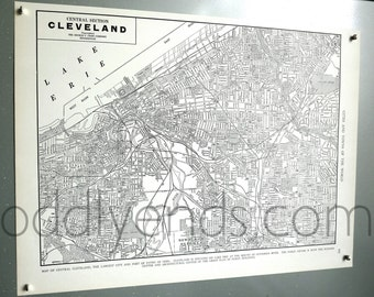1939 Cleveland Ohio Vintage City Atlas Map