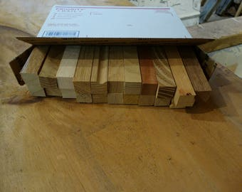 Pen blanks, small turning stock, wood blanks - 11 different species in each box