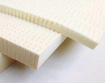 "Natural Latex Topper 2"" / 3"" Medium Firmness  with Organic Cotton / Natural Bamboo / Tencel"