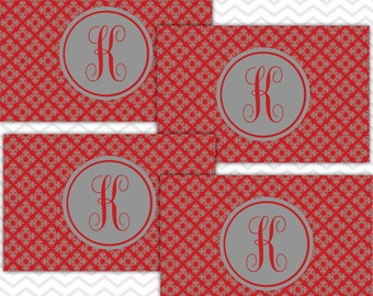 Placemat Set of 4, Personalized Placemats, Monogrammed Placemats, Laminated Placemats, Paper and Laminate Placemats