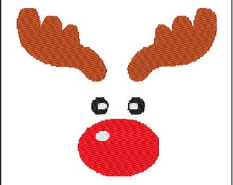 Rudolph Reindeer Embroidery Pattern Design