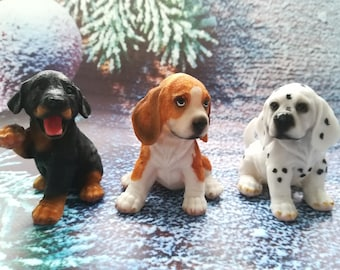 3d mold Beagle Puppies Hound Whippet Harrier Mold Dalmatian Mold Doberman Puppies Molds Silicone Pets Mold Doggie Bloodhound Dalmatic Mold
