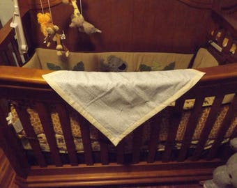 Hand tied baby quilt, baby blanket, bedding , throw, lap blanket, 18 X 21
