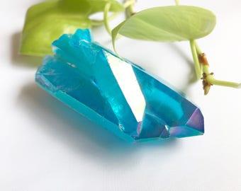 Blue Aura Crystal Point