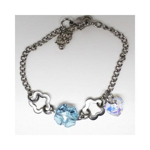 AQUAMARINE Cristal bracelet