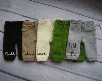 15% off SALE    Newborn photo prop, newborn pants, knit newborn pants, newborn girl, newborn boy, newborn props, newborn photography prop