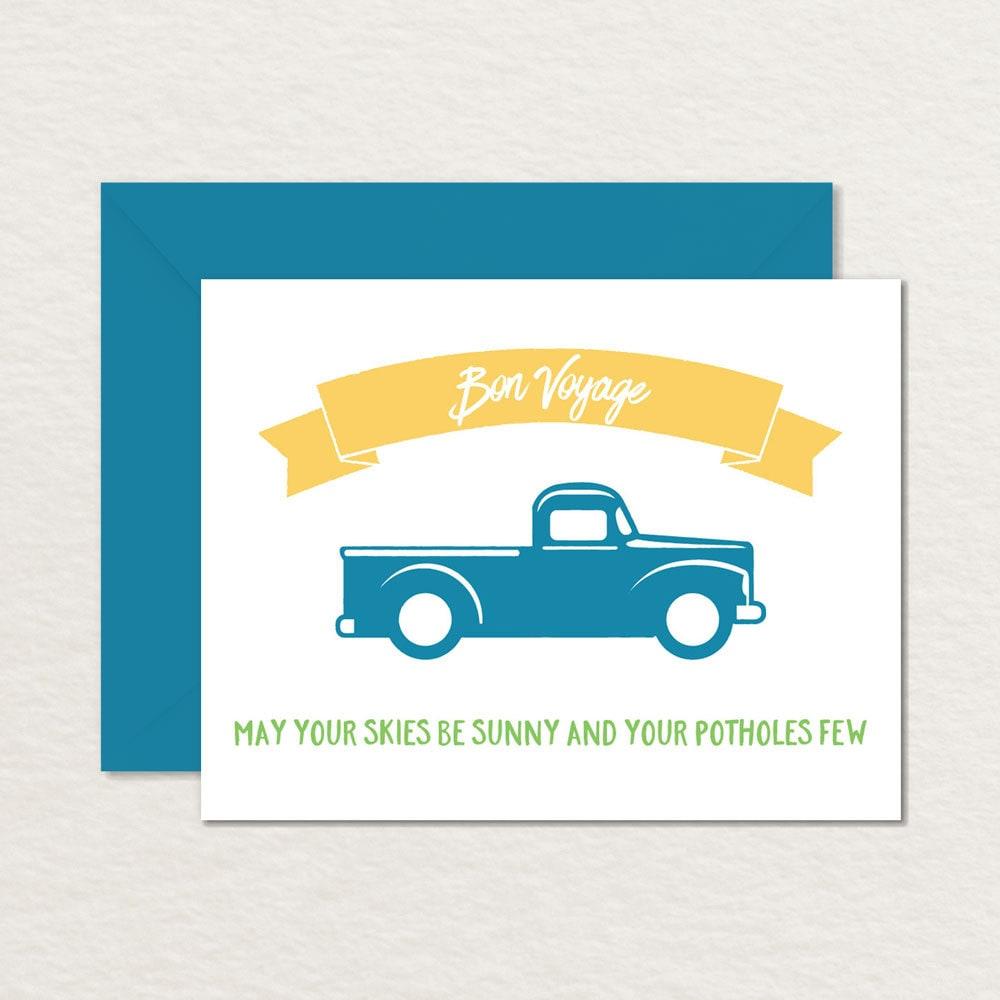 Printable farewell card printable bon voyage card sunny zoom kristyandbryce Image collections