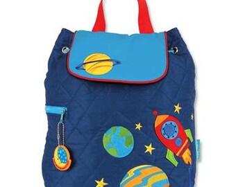 Stephen Joseph Toddler Space Quilted  Backpack, Children Backpack, Kids Backpack, Toddler Backpack, Personalized Bag, Preschool Backpack