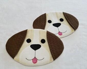 Puppy Dog Potholders (Set of 2)