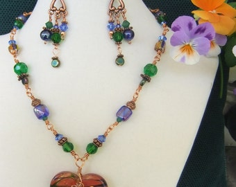 Heart Of The Matter, necklace & earrings