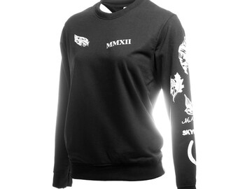 Hood Tattoos Black Sweatshirt Sweater Crew Neck Shirt Add Hood 96 Sweatshirt – Size S M L XL