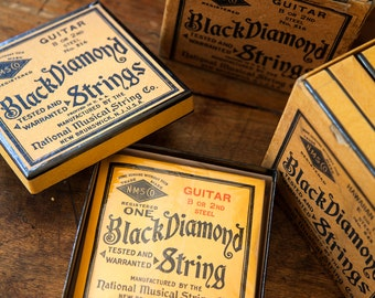 1940s  Guitar Black Diamond Strings - New Old Stock - Still Wrapped - 12 per box - Free Shipping Within the USA
