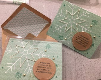 Stitched Snowflake Holiday Card Pack
