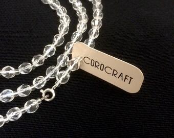 Corocraft Necklace   Crystal Necklace   New Old Stock   1960s 60s   Single Strand   Vintage Necklace   Glass Necklace